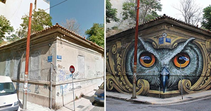12примеров невероятного преображения улиц спомощью граффити