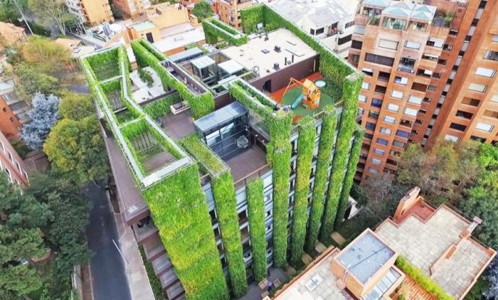 И красиво, и практично: дом с «зеленым» фасадом, обеспечивающим кислородом несколько тысяч человек