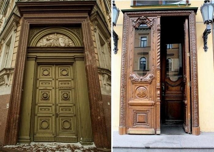Для чего в старых зданиях Санкт-Петербурга стоят огромные двери