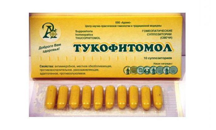 Свечи  Тукофитомол : инструкция по применению, показания, аналоги, отзывы