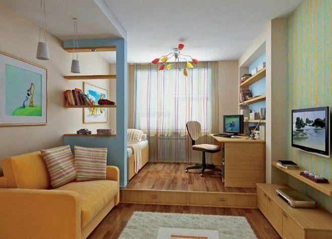 Зонирование однокомнатной квартиры для семьи с ребенком: лучшие идеи, фото вариантов