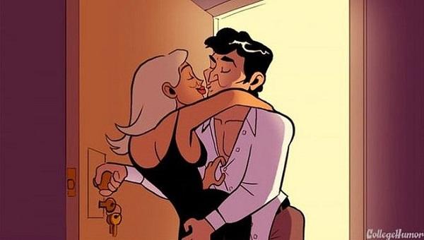 Как ЭТО бывает в кино и в реальности: веселые картинки о нелепых моментах в сексе.