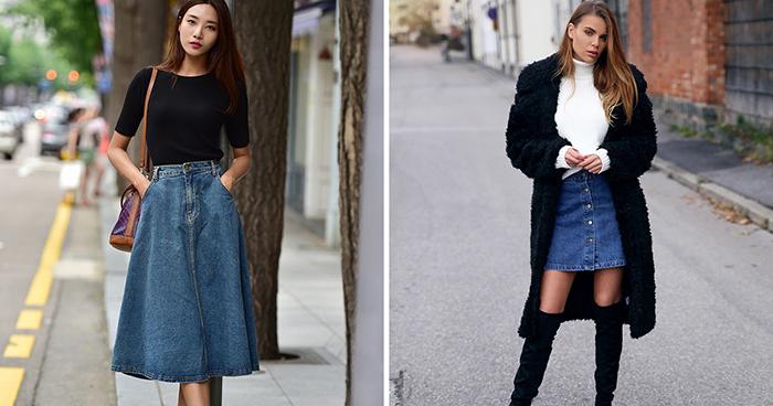Привет из 90 х: самые модные джинсовые юбки этого лета