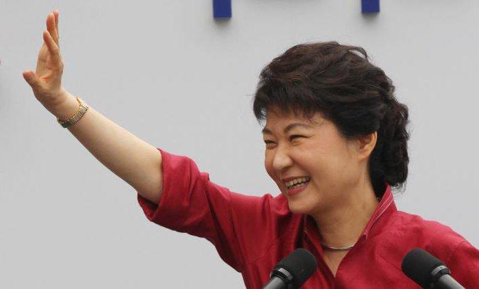 Первая женщина президент Южной Кореи