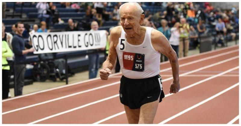 99 летний ветеран обогнал 92 летнего соперника начемпионате побегу