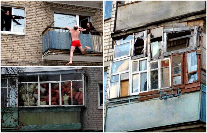 17 забавных снимков об удивительных и неповторимых балконах наших сограждан